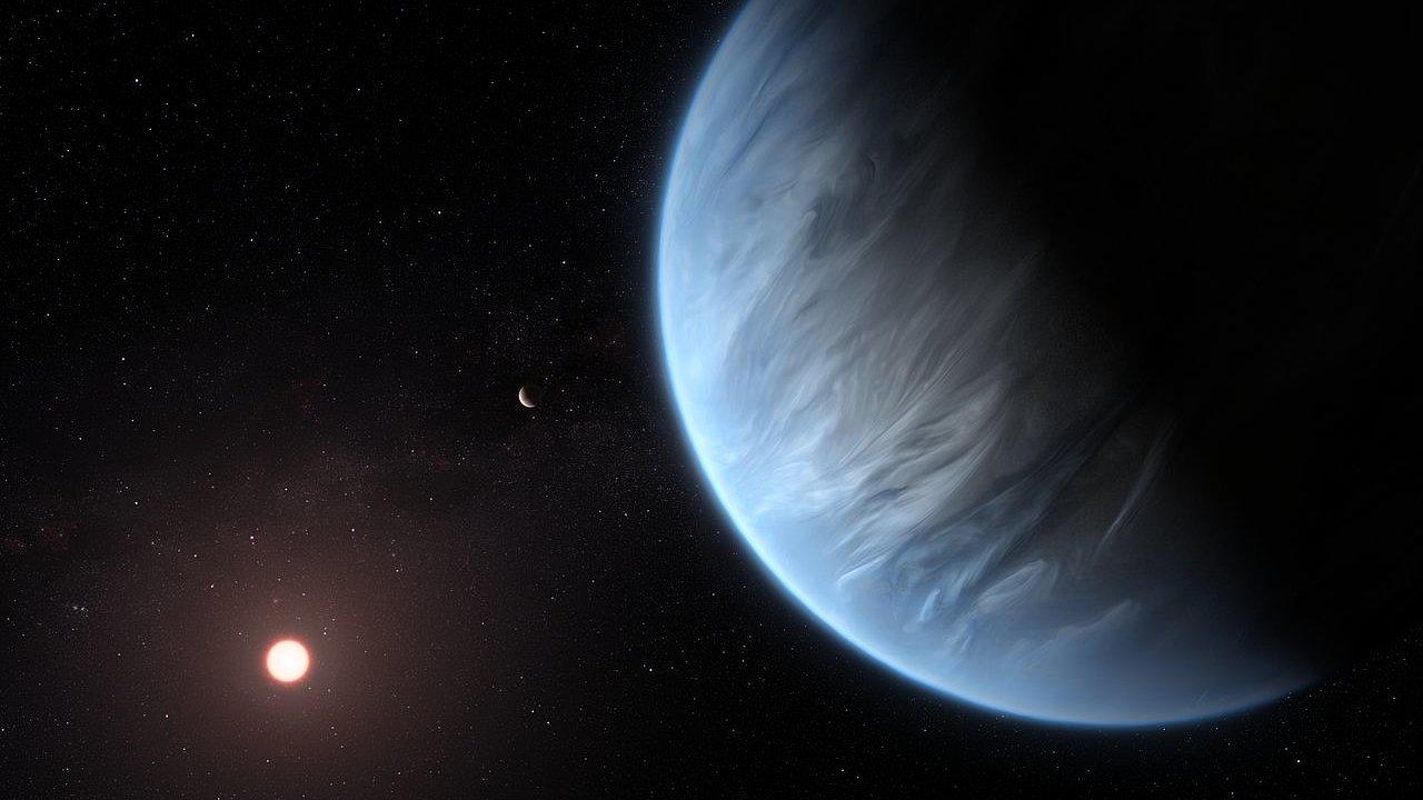 Planeta K2-18b, na které je pravděpodobně voda.