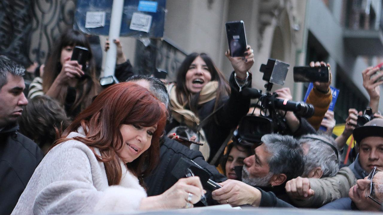 Podpora veřejnosti: Bývalá hlava státu Cristina Fernándezová-Kirchnerová je u mnoha Argentinců pořád populární.