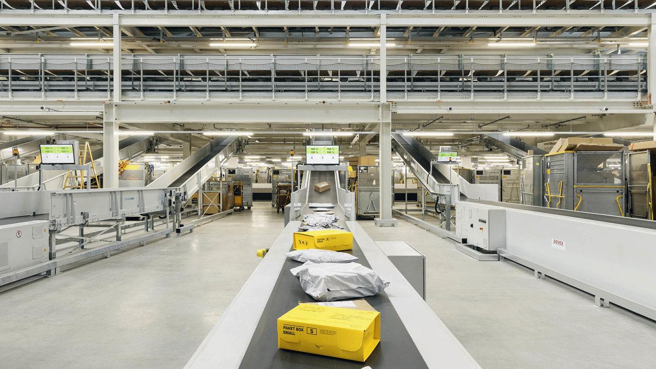 Provoz logistického centra Rakouské pošty