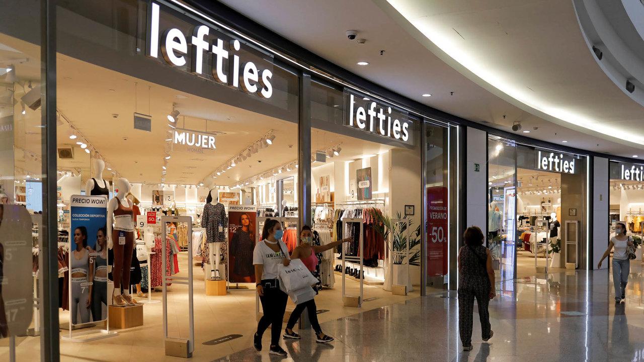Obchod značky Lefties, jež patří Inditexu.