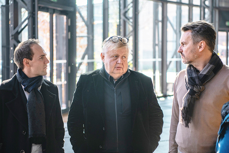 Studenti MBARE vOstravě (zleva): Pavel Svoboda (posluchač MBARE), Jan Světlík (Vítkovice a.s.), Rostislav Tomaščík (posluchač MBARE).