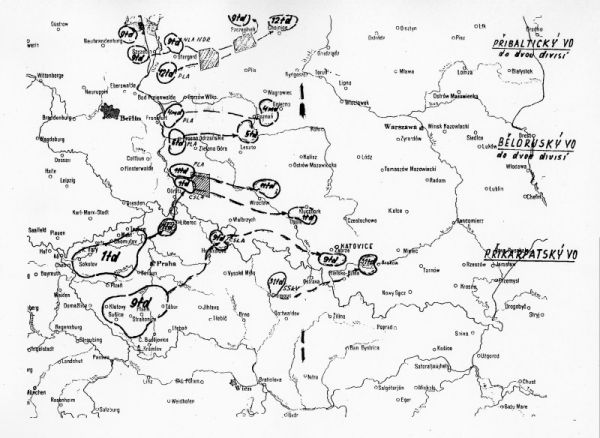 map of Warsaw Pact invasion from the west