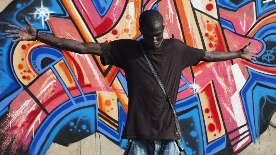Senegalské pouliční graffiti