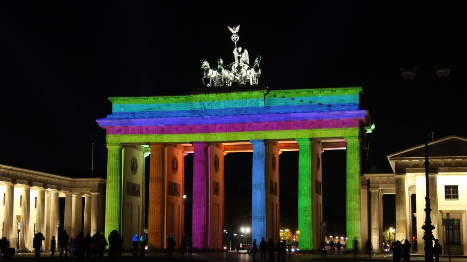 Braniborská brána při Festivalu světel