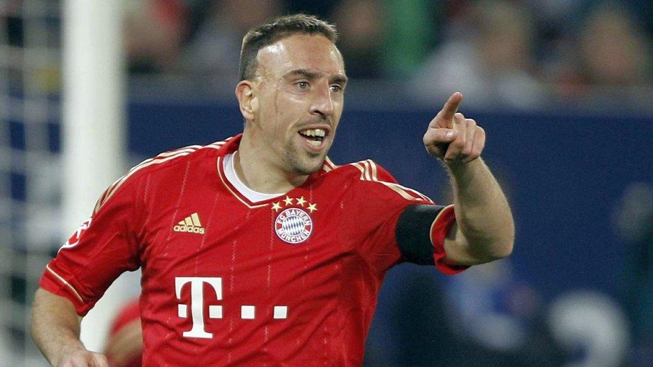 Franck Ribéry v dresu Bayernu Mnichov