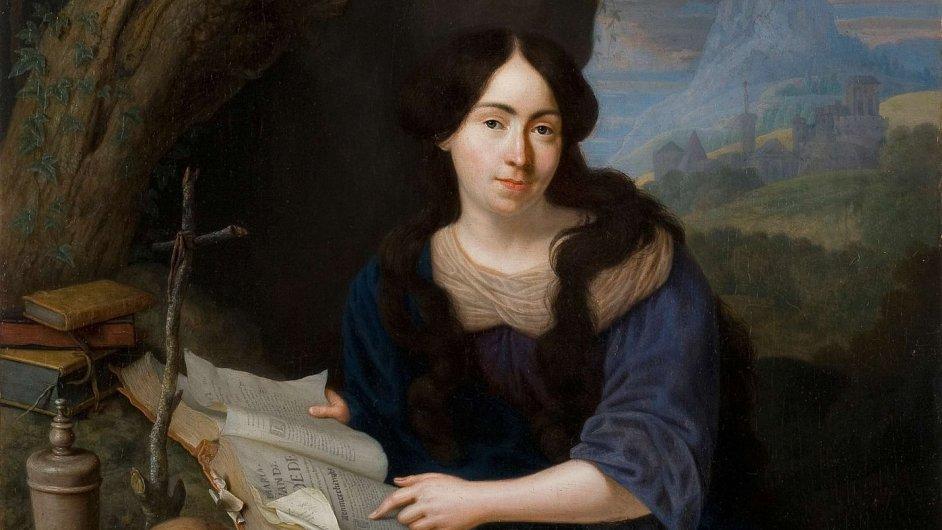 Peeter Leermans, portrét neznámé dámy jako Máří Magdalény