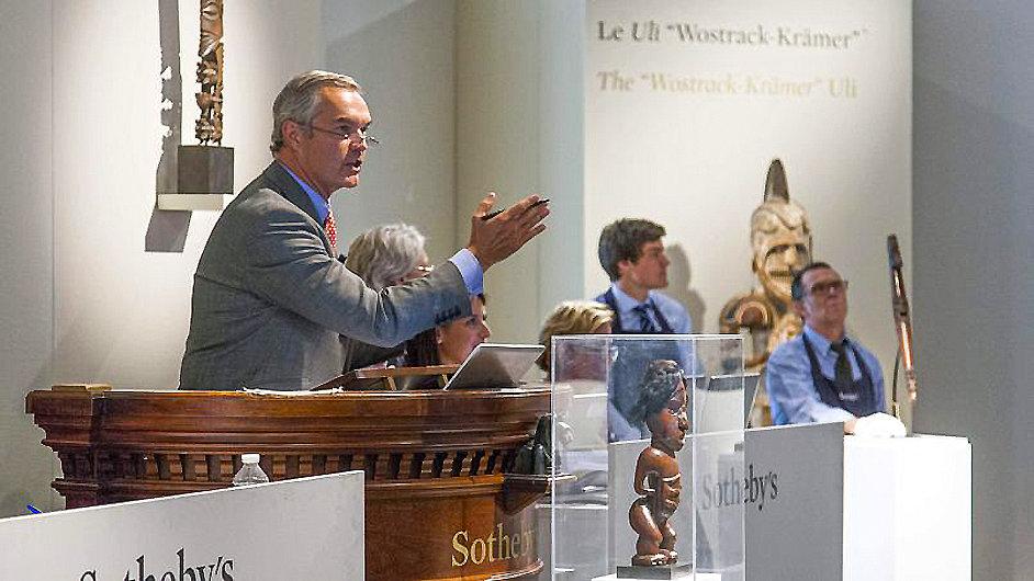 Snímek z nedávné aukce Sotheby's v Paříži