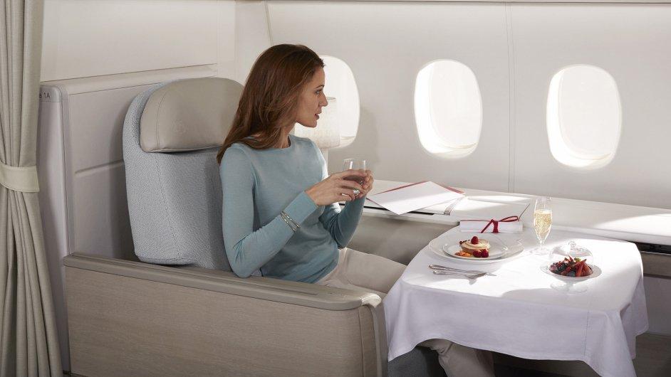 Luxus v letadle