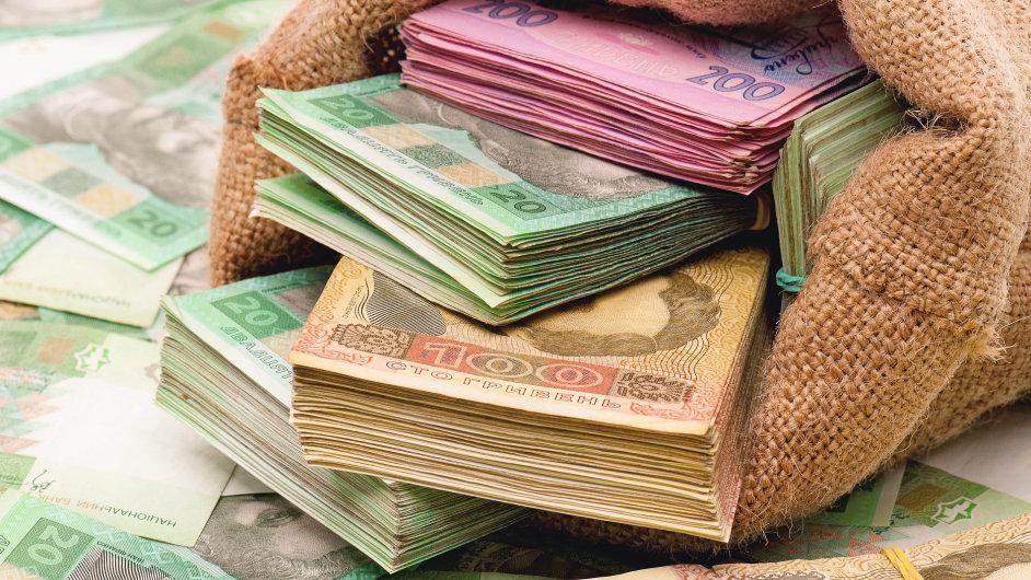Ukrajinská měna - Ilustrační foto.