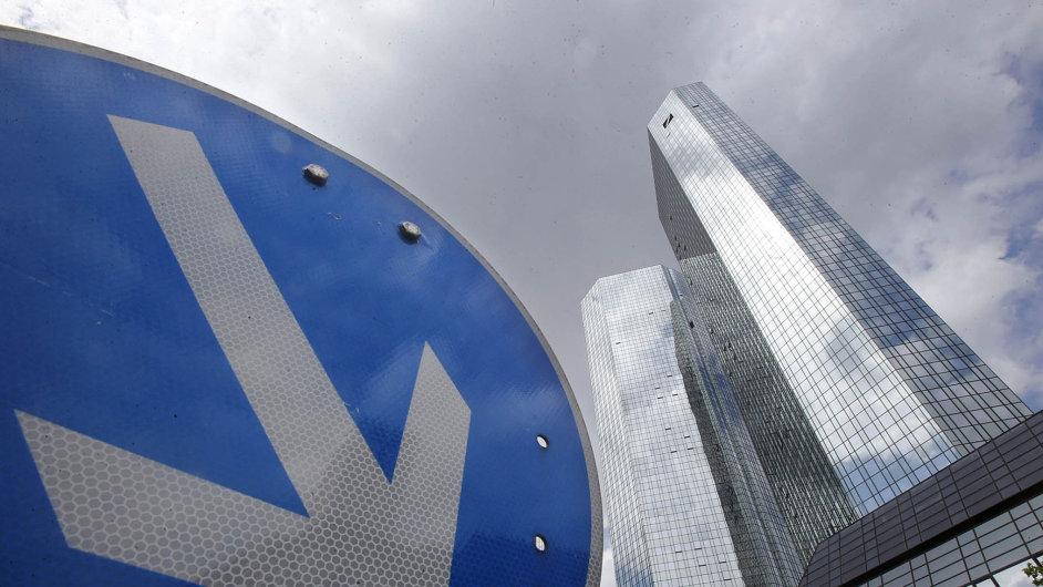 Ústředí největší německé banky Deutsche Bank.