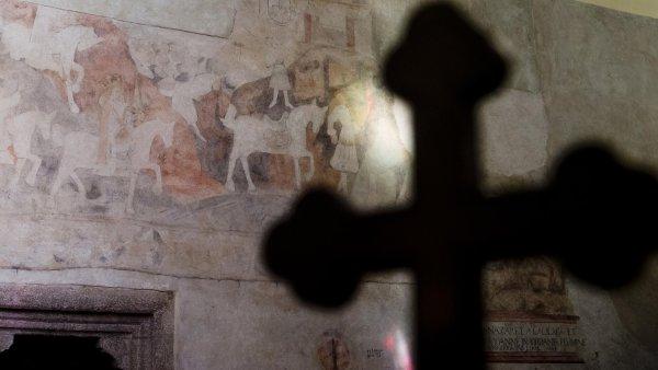 Sn�mek z kostelu sv. Martina v Sedl�anech