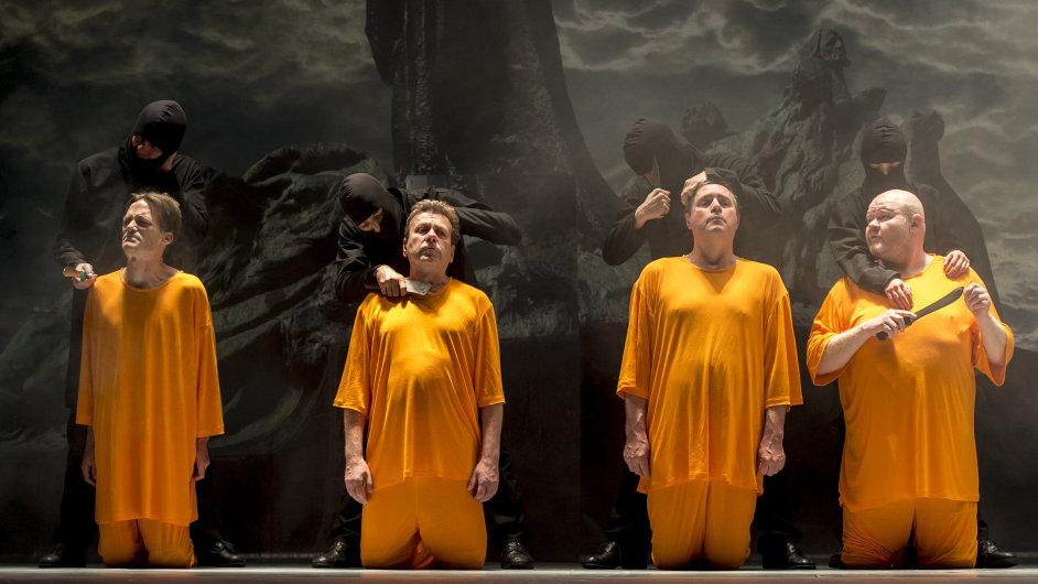 Snímek z inscenace Unisex v Klicperově divadle.