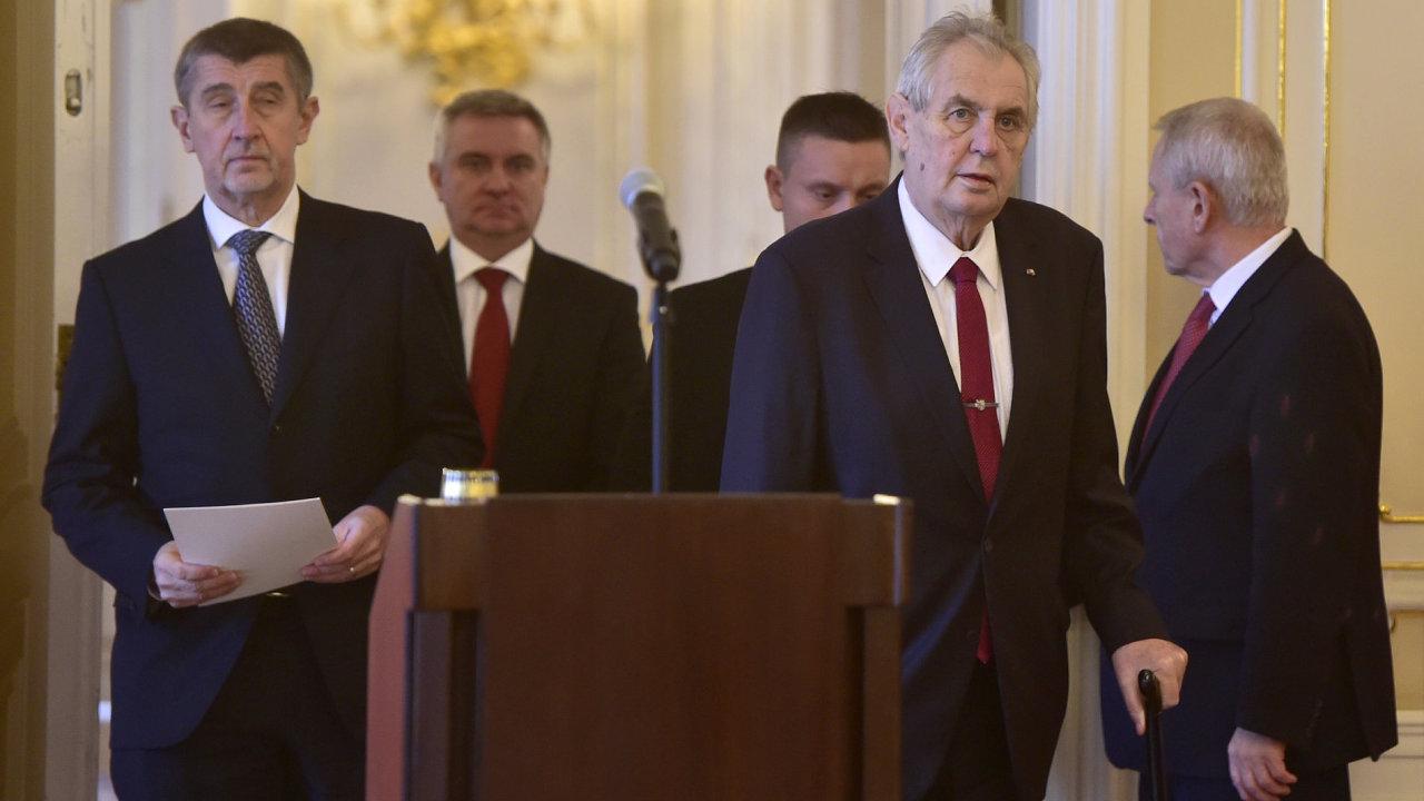 Andrej Babiš a Miloš Zeman.
