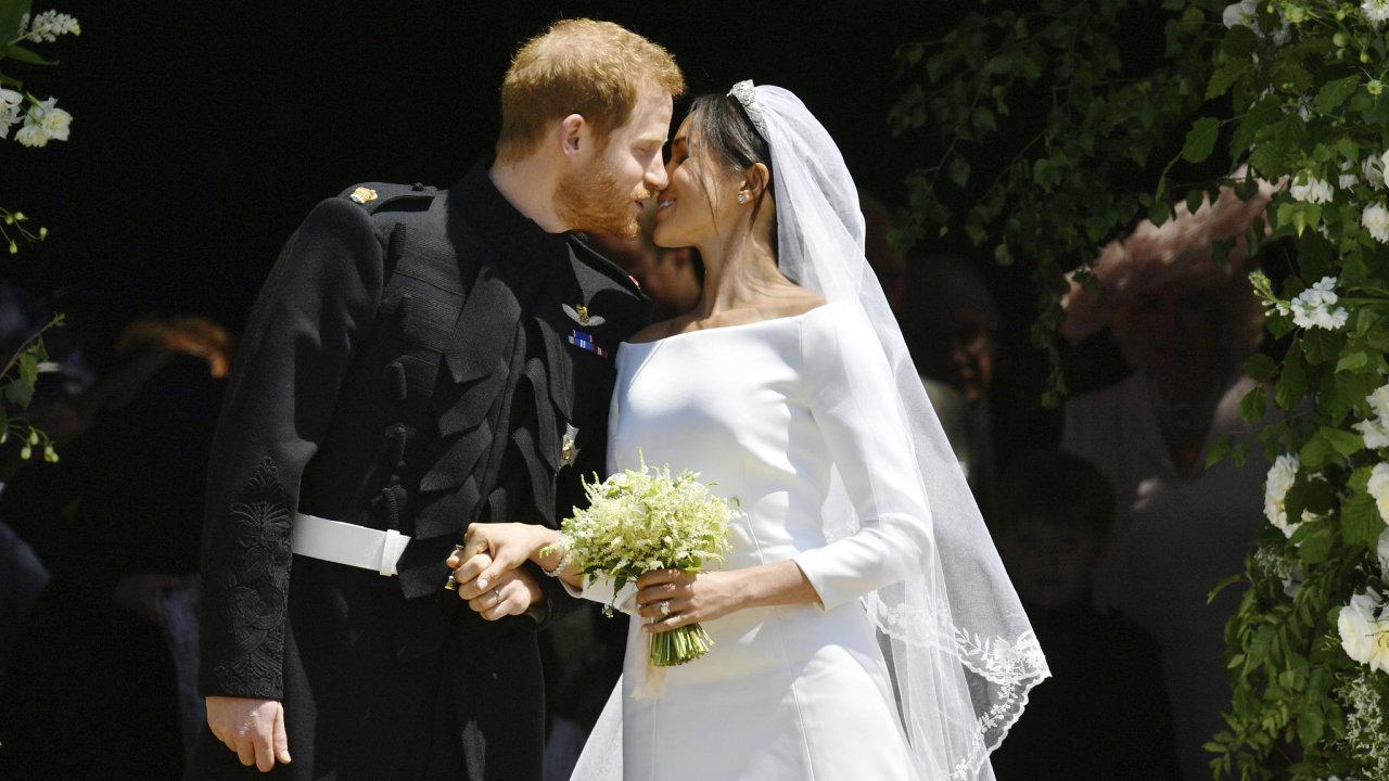 Princ Harry a Meghan Markleová.