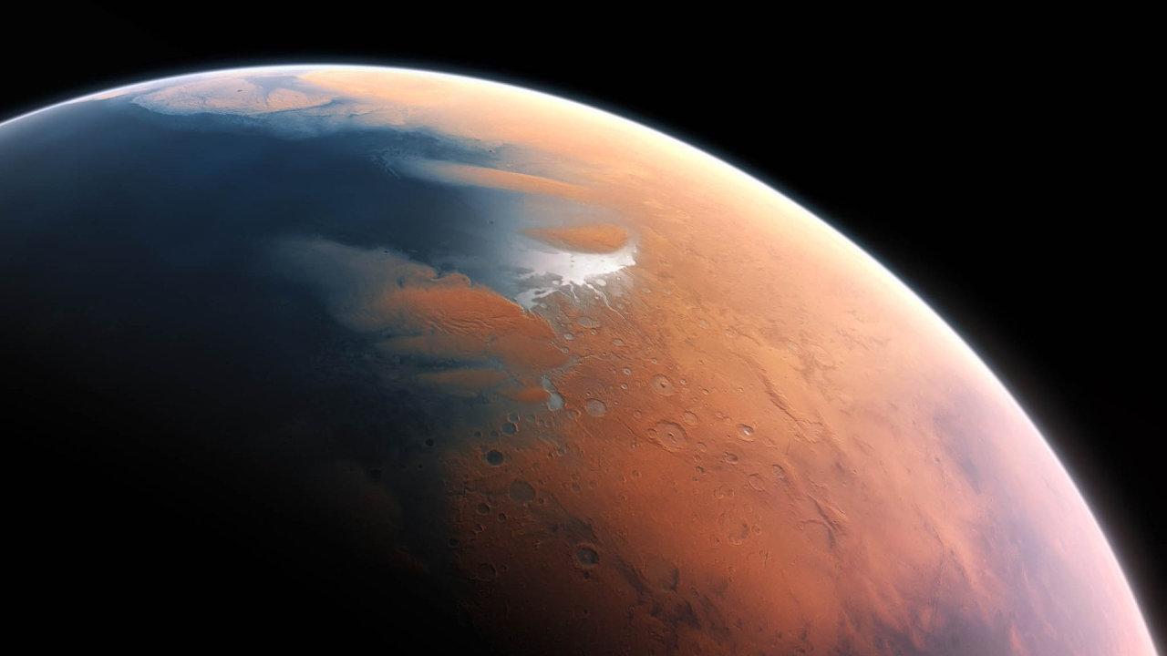 rudá planeta Mars