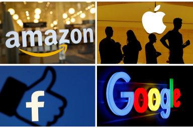 Mezi takzvanou velkou čtyřku patří Amazon, Apple, Facebook a Google.