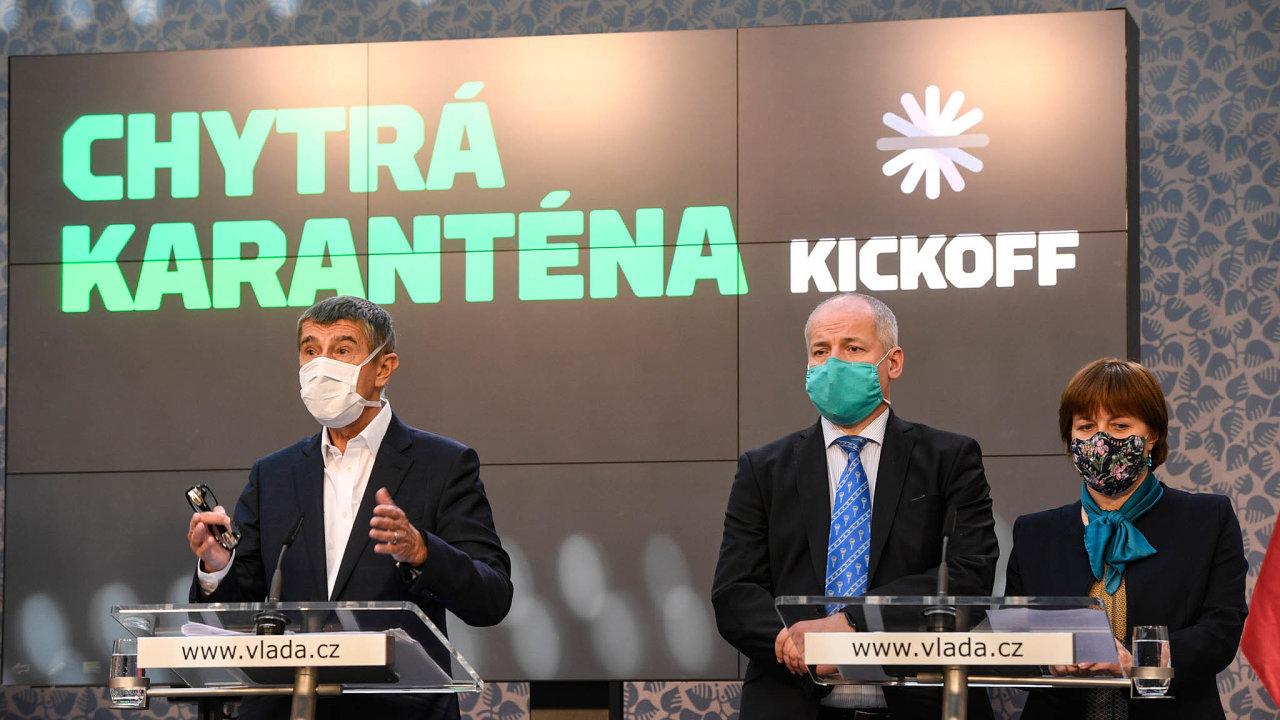 Komunikace vázne. Náměstek ministra zdravotnictví Roman Prymula (vpravo) oznámil svůj odchod premiérovi Andreji Babišovi (vlevo). Se svým ministrem Adamem Vojtěchem otom předem nejednal.