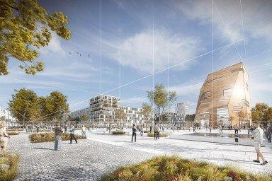 Ve čtvrti by také mělo vzniknout několik náměstí. Na jednom z nich by pak mohlo stát kulturní fórum s multifunkčními sály a knihovnami.