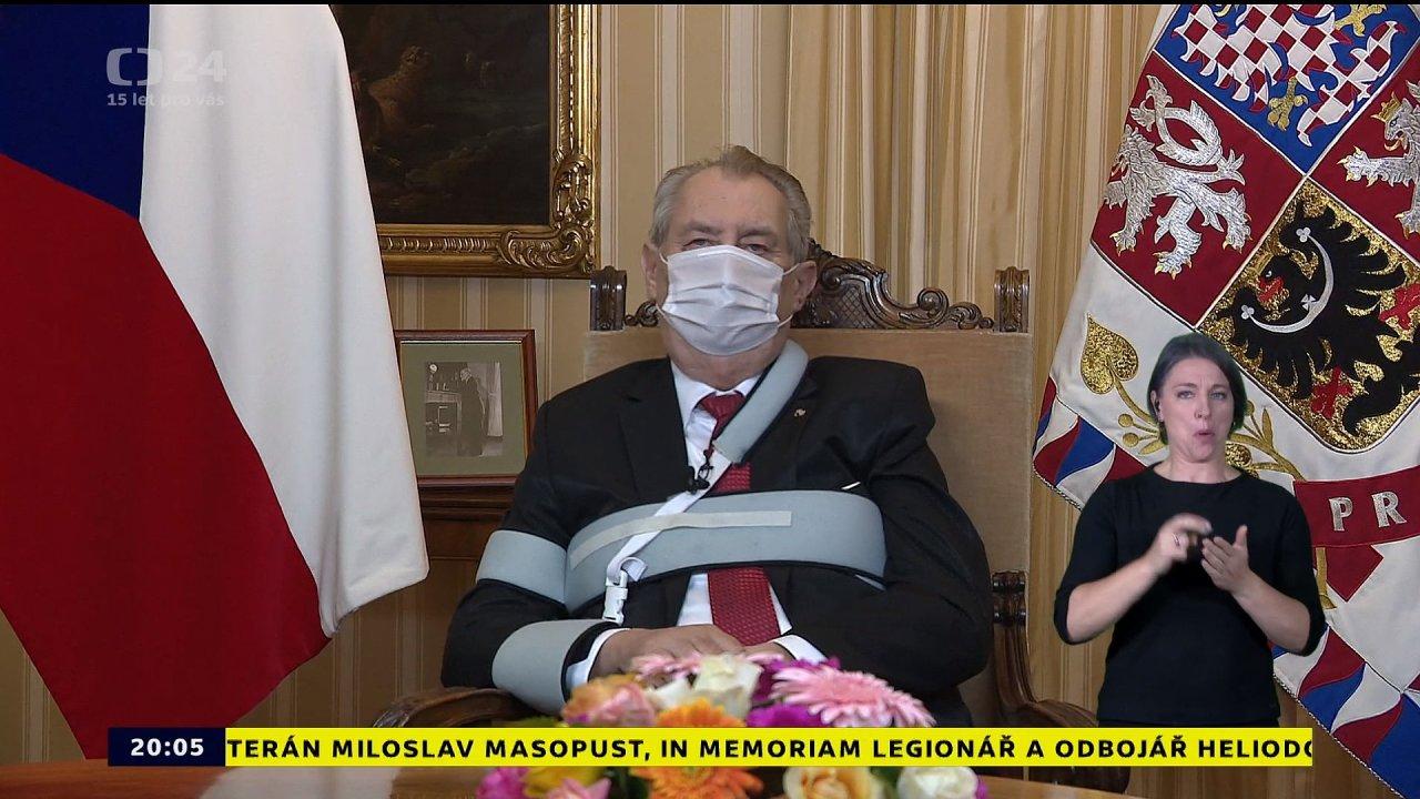 Miloš Zeman prezident proslov