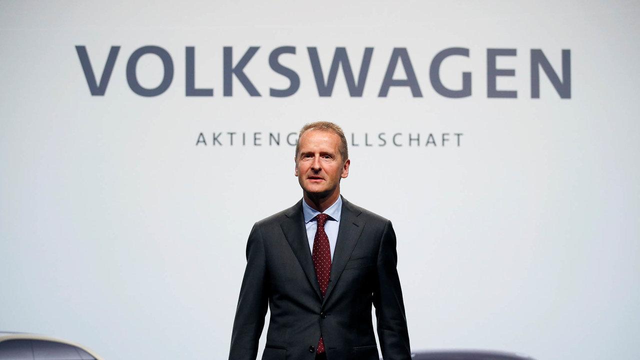 Herbert Diess, generální ředitele ašéf představenstva Volswagenu.