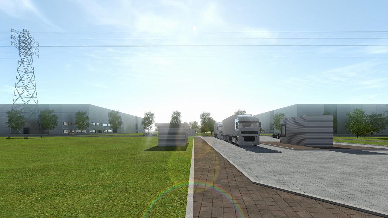 VGP Park České Budějovice vznikne na okraji města v komerční zóně Světlík s bezproblémovým dopravním spojením do centra a přímým nájezdem na dálnici D3 propojující Prahu a rakouský Linz (vizualizace).