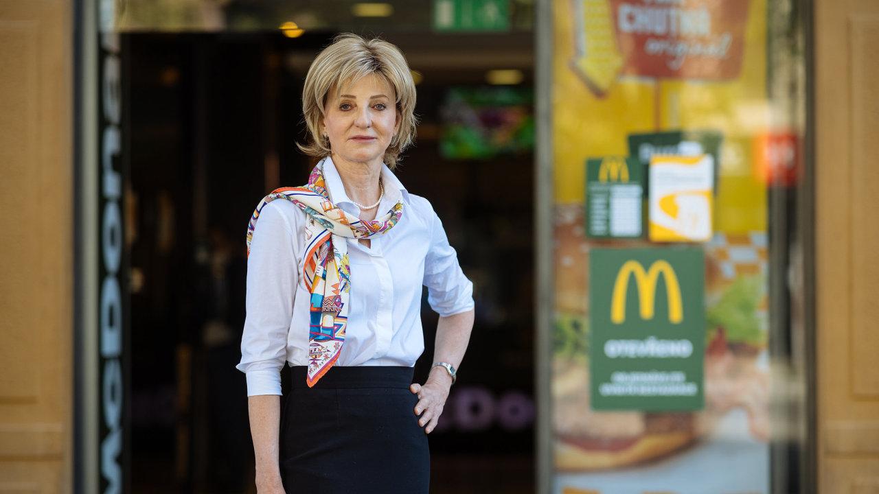 Finanční ředitelka McDonald's pro Česko a Slovensko Ivana Prosecká.