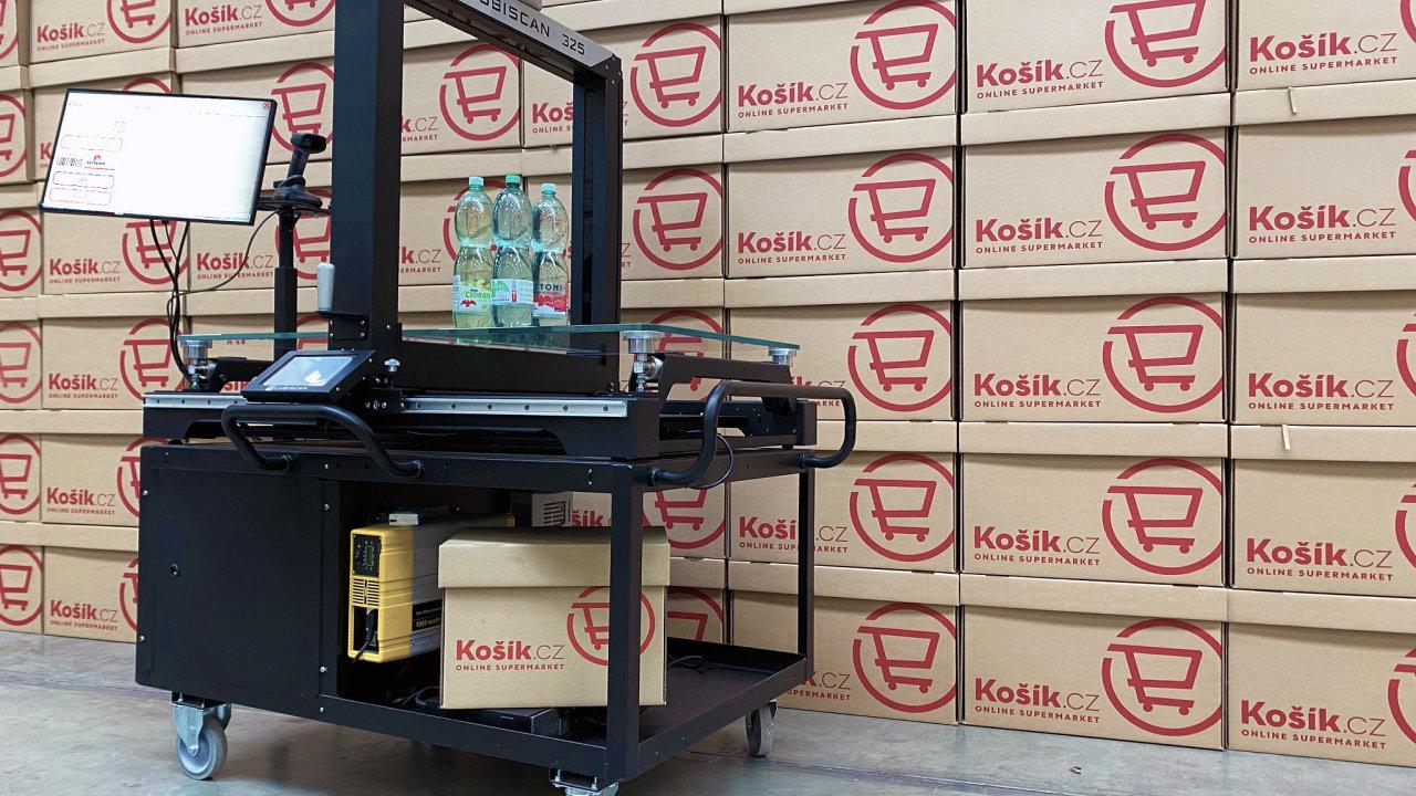 3D skener kombinovaný s váhou umožnil firmě Košík.cz postupně digitalizovat přes 16tisíc různých položek sortimentu potravin, nápojů idrogerie.