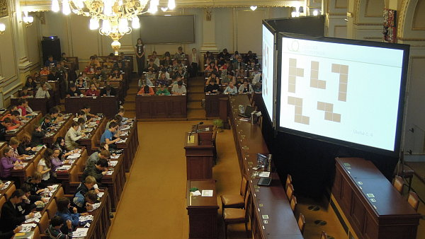 Olympiáda dětí ve Sněmovně.