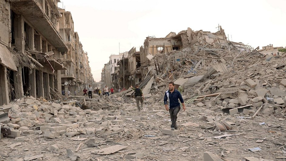 Zničené syrské Aleppo - ilustrační foto