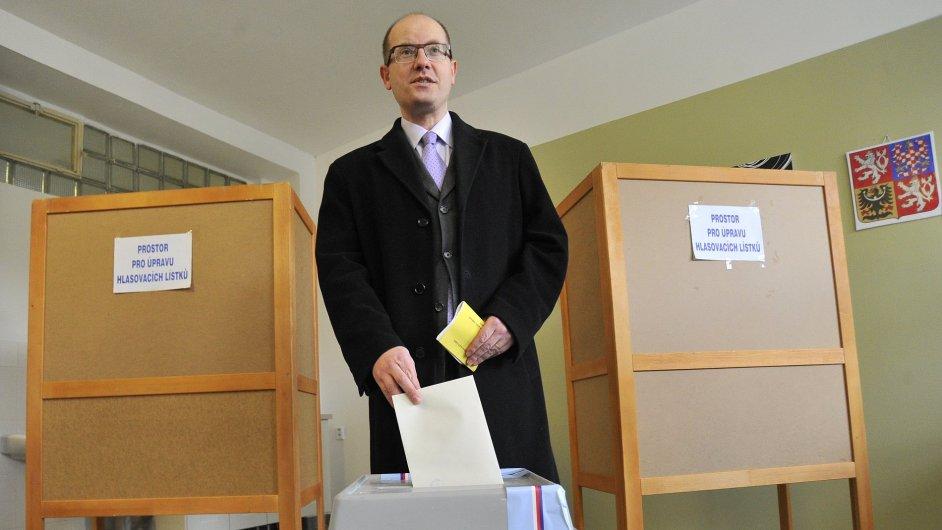 Bohuslav Sobotka při volbách