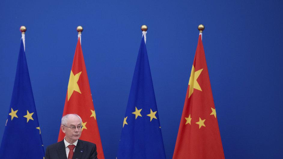 Evropský prezident Herman Van Rompuy na Urbanizačním fóru v Pekingu