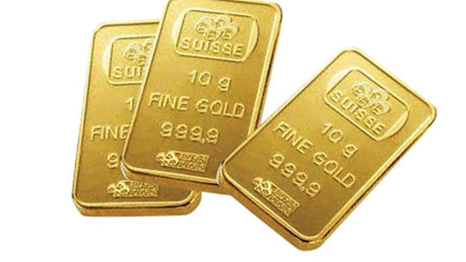 Desetigramový zlatý slitek, ilustrační foto