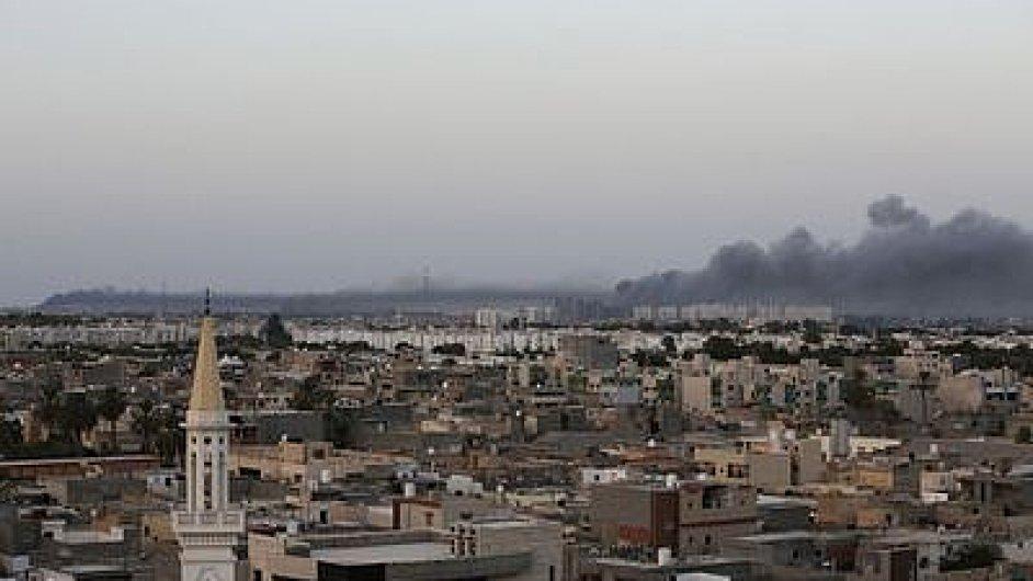 Tripolis po bombových náletech