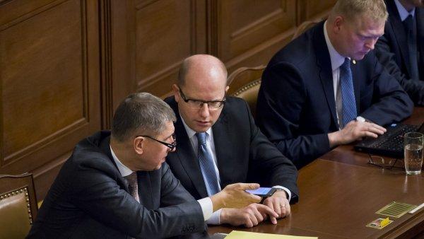 D�v�ru v kabinet Bohuslava Sobotky chov� 43 procent dot�zan�ch.