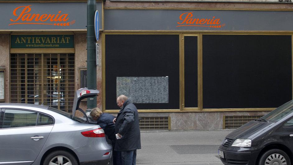 Zavřená Paneria na Národní třídě v Praze