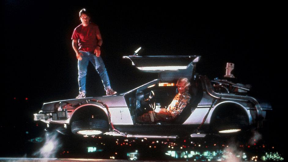 Létající vůz ve filmu Návrat do budoucnosti.