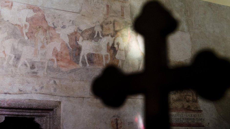 Snímek z kostelu sv. Martina v Sedlčanech