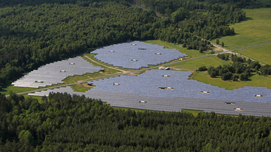 Ralsko - sluneční elektrárna.
