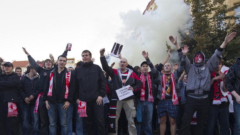 Protest fanoušků Slavie