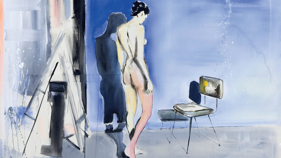 Martin Krajc: Leaving, 2016, akryl, plátno, 140x160 cm
