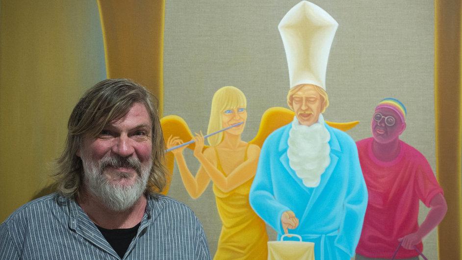 Snímek z výstavy Tomáše Císařovského