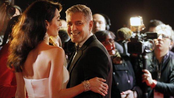 Udílení cen César se zúčastnil také herec George Clooney s manželkou Amal.