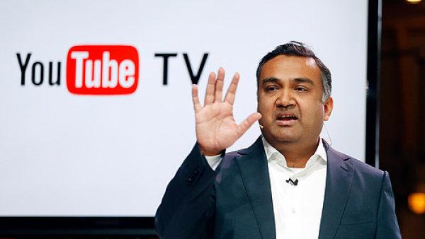 Neal Mahan, produktový manažer společnosti, představuje novou službu YouTube TV.