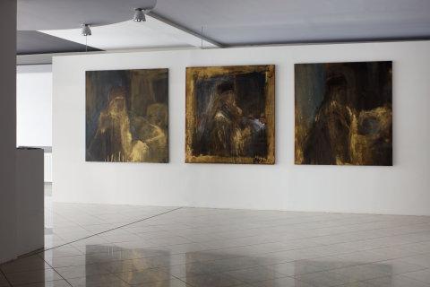Snímek z výstavy Jakuba Špaňhela v Galerii Miroslava Kubíka.