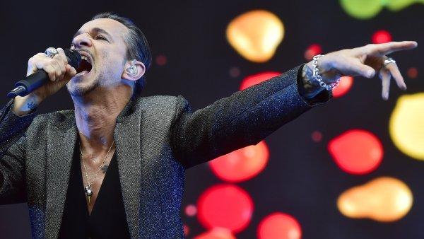 Snímek z vystoupení Depeche Mode v Praze.