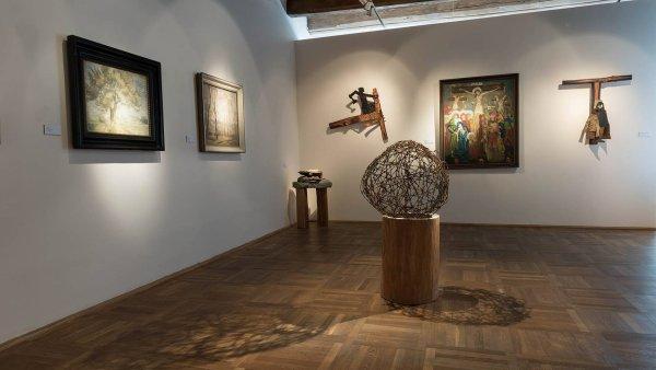 Východočeská galerie chce začít akvizicemi děl z nedávné výstavy Vojmíra Vokolka (na snímku).