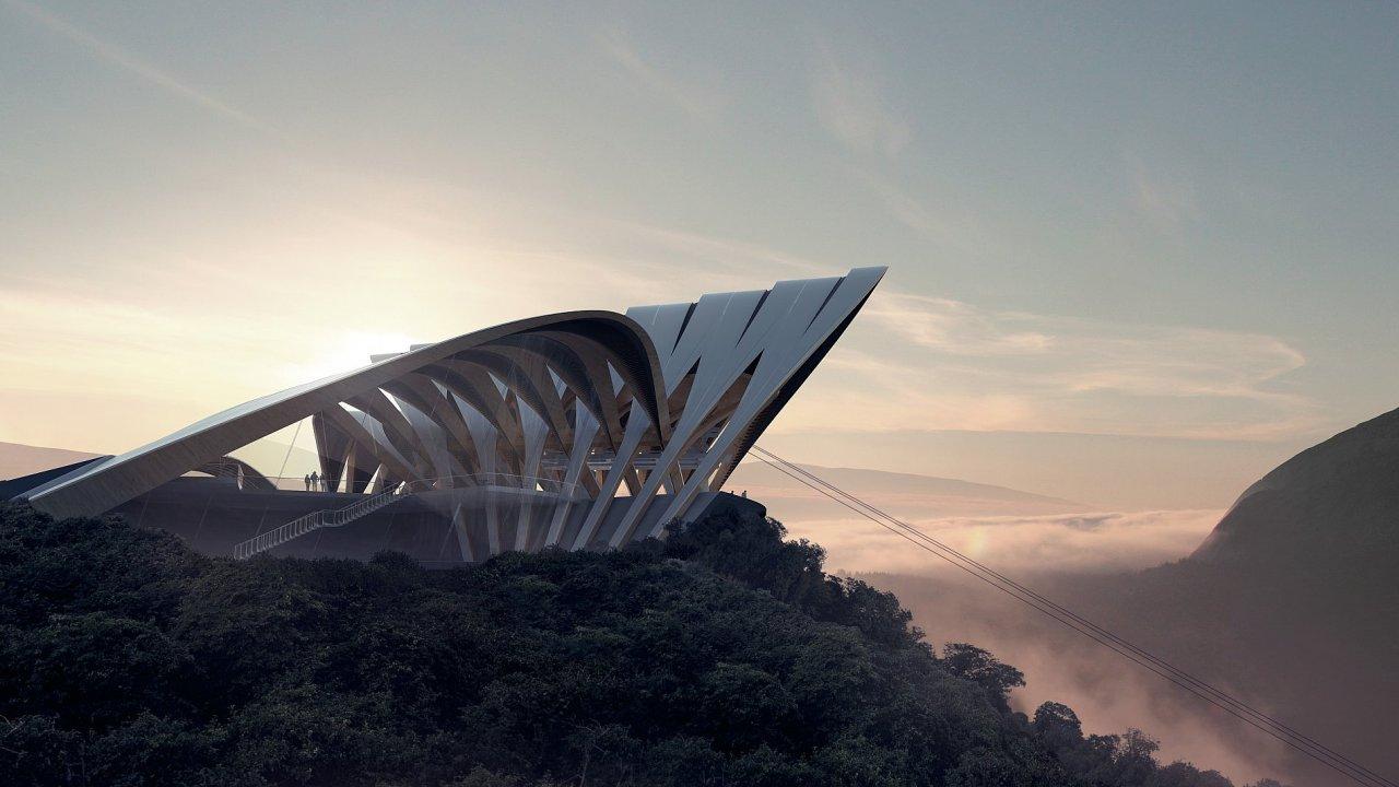 Zaha Hadid Architects: Nerealizovaný návrh lanovky pro italské Bolzano