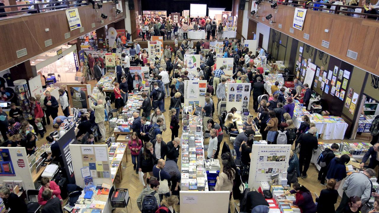 Snímek z Podzimního knižního veletrhu.