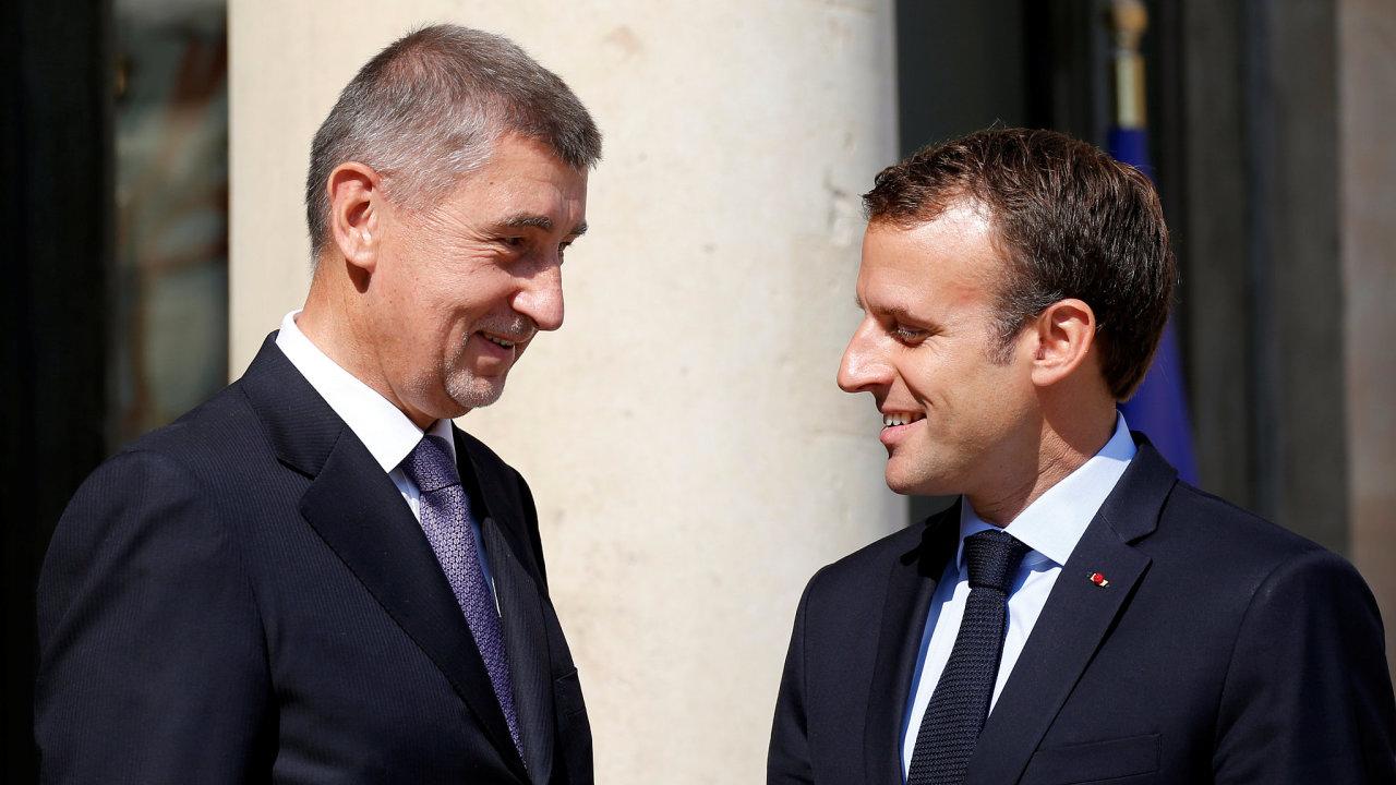Macron Babiš Paříž
