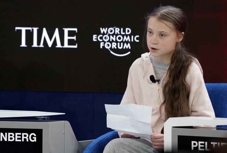 Světové ekonomické fórum v Davosu Thunberg Greta